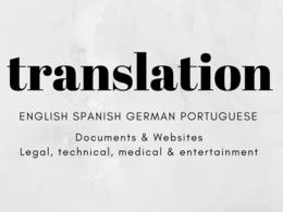 Translate  in Spanish, English, Portuguese or German
