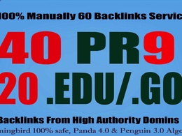 Get 40 PR9+ 20 EDU/GOV Safe SEO Powerful High PR Backlinks Build