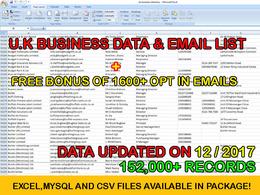 150,000+ B2B U.K EMAILS & BUSINESS DATA WITH BONUS