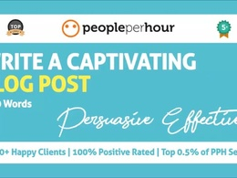 Write a captivating, persuasive blog post (450 Words)