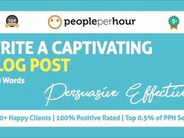 Write a captivating, persuasive blog post (450 Words)