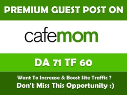 Publish a guest post on CafeMom - CafeMom.com - DA76