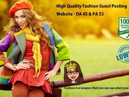 Guest Post for Fashion Website (Niche) DA 45