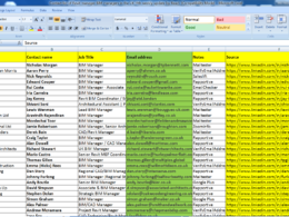 Data mining, contact list build  (250)