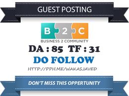 Publish Guest post on Business2community.com DA 86