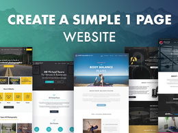 Create a simple 1 page website