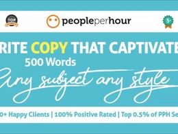 Craft your web page copy (500 Words)
