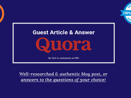 Write and publish your article, guest post, or answer at Quora