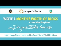 Write 1 month of blog posts for your trade or sign business