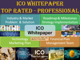 ICO whitepaper (Initial Coin Offering), 25+page, charts/graphics