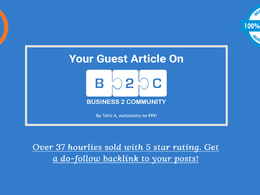 Publish your guest post on Business2Community (DA 84, PA 86, DF)