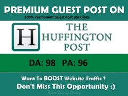Publish a guest post on huffington post