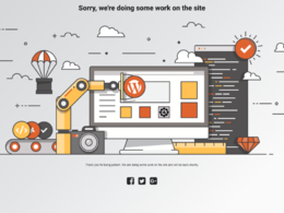 Design a coming soon / under construction / 404 error page