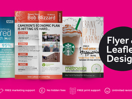 Design your double sided flyer or leaflet