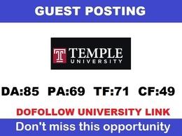 Dofollow Edu guest post on Temple.edu (Temple University) - DA85