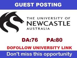 Edu guest post on The University of Newcastle, Australia - DA76