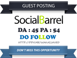 Publish Guest post on Socialbarrel  - Socialbarrel.com DA 45