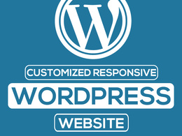 Customized Responsive WordPress website