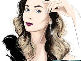 Draw custom fashion-style digital portrait