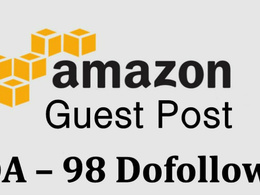 Do guest post on Amazon.com (DA98) dofollow backlinks
