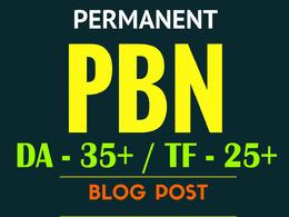 Provide 5 High DA-35+ & TF-25+ Permanent PBN Blogs