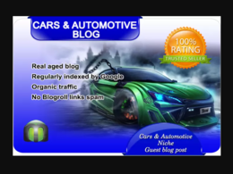 I will write and guest post on my cars blog