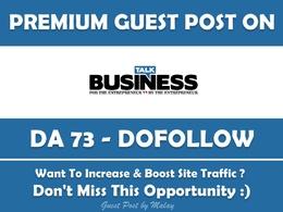 Publish Guest Post on Talk-Business.co.uk - DA 73