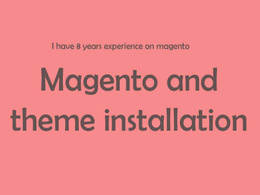 Install magento and magento theme with/without demo