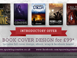 Design your ebook cover, full book wrap and novel artwork