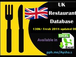 Provide UK restaurant database 130K+ in excel format 40k+ emails