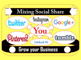 Promote your website by Mixing social share dripfeeding manually