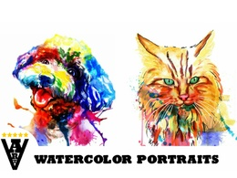 Draw your pet in watercolor style