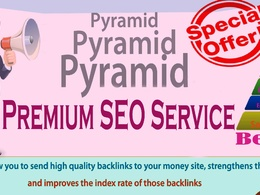Boost SEO Rank with High Authority Advanced PYRAMID Backlinks