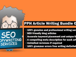 Write 7 SEO-friendly genuine articles on your keywords 7x500w