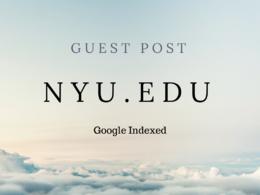 Real Blogger Outreach on NYU.edu Dofollow & Google Indexed DA91
