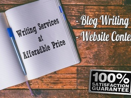 Write 1000 words SEO Optimized Blog & Article