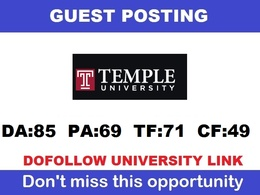 Dofollow Edu guest post on Temple.edu (Temple University) - DA8