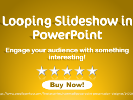 Create a looping PowerPoint slideshow for events