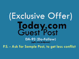 Publish Guest Post on Today.com (DA-93, Do-Follow Link)