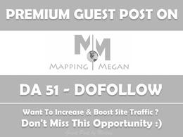 Publish Guest post on MappingMegan.com - DA 51