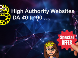 Write & Post 3 articles with High DA sites