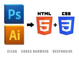 Turn PSD/AI file into HTML+CSS.