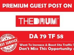 Write & Publish Premium Guest Post on Thedrum.com - DA 79