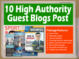 I Will Do Guest Post On 10 High Authority Blogs, DA92-30