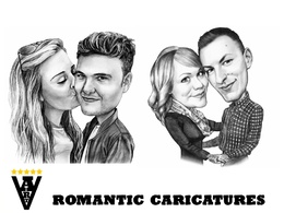 Draw a Couple Portrait, Romantic Caricature
