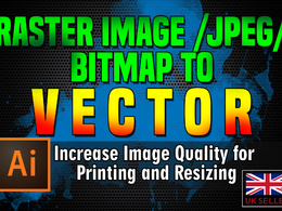 Redraw your current logo / image as high resolution VECTOR file.