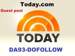 Guest post with today.com DA93 PA77 Do-Follow Link