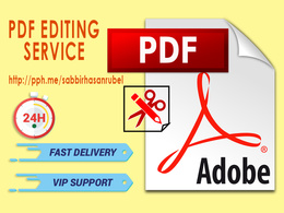 Any PDF editing service within 24 hrs