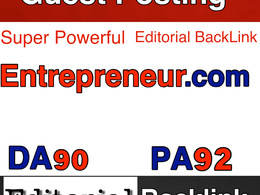 Publish a guest post on Entrepreneur.com (DA90, PA70, T