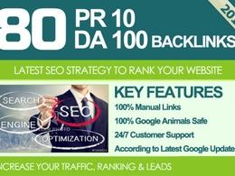 Get 80 Links on High DA Site Safe SEO Powerful High PR Backlinks